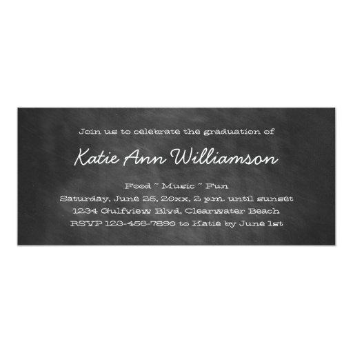 Invitaciones de la fiesta de graduación de la invitación 10,1 x 23,5 cm