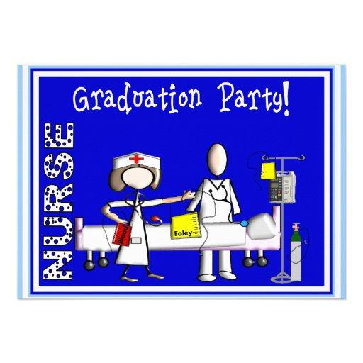 Invitaciones de la fiesta de graduación de la enfe invitaciones personalizada