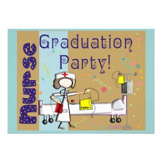 Invitaciones de la fiesta de graduación de la enfe