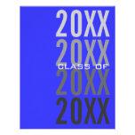 invitaciones de la fiesta de graduación del azul r comunicado personal