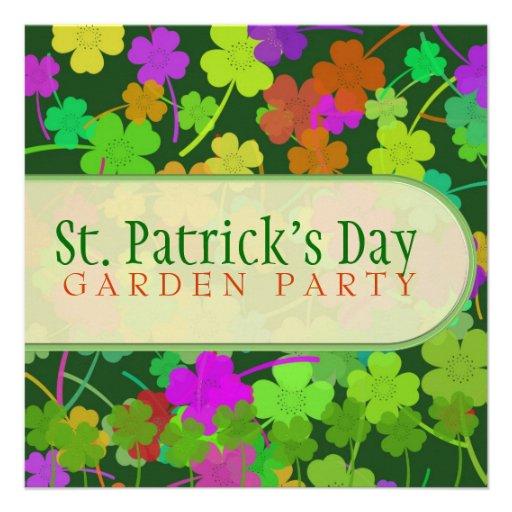 Invitaciones de la fiesta de jardín del día de St  Anuncio Personalizado