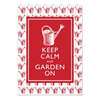 """Invitaciones de la fiesta de jardín del jardinero invitación 5"""" x 7"""""""