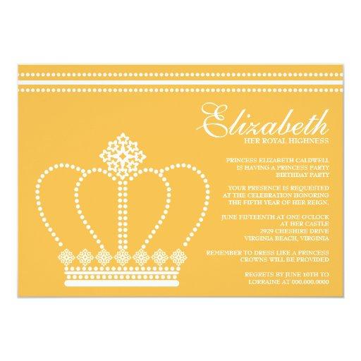 Invitaciones de la fiesta de la princesa comunicados personalizados