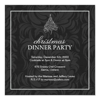 """Invitaciones de la fiesta de Navidad Invitación 5.25"""" X 5.25"""""""