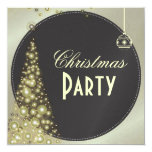 Invitaciones de la fiesta de Navidad, árbol de Anuncios Personalizados