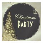 """Invitaciones de la fiesta de Navidad, árbol de Invitación 5.25"""" X 5.25"""""""