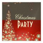 Invitaciones de la fiesta de Navidad, burbujas del Anuncio Personalizado
