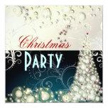 Invitaciones de la fiesta de Navidad, burbujas del Invitaciones Personales