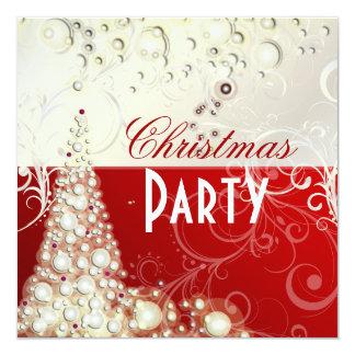 Invitaciones de la fiesta de Navidad, burbujas del Invitación 13,3 Cm X 13,3cm