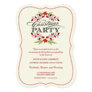 """Invitaciones de la fiesta de Navidad de la Invitación 5"""" X 7"""""""