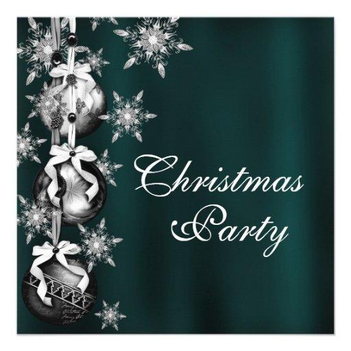 Invitaciones de la fiesta de Navidad de los copos  Comunicados Personalizados