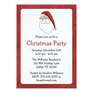 Invitaciones de la fiesta de Navidad de Papá Noel Invitaciones Personalizada