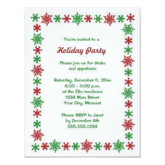 Invitaciones de la fiesta de Navidad del copo de Comunicados