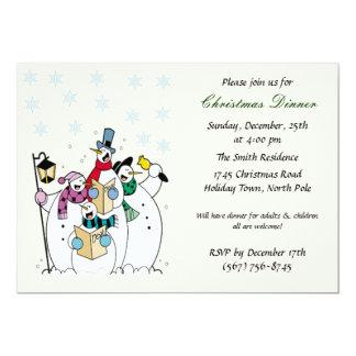Invitaciones de la fiesta de Navidad del muñeco de Invitaciones Personales