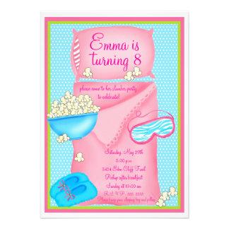 Invitaciones de la fiesta de pijamas de las palomi invitación personalizada