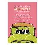 Invitaciones de la fiesta de pijamas del gatito el