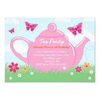 Invitaciones de la fiesta del té invitación 12,7 x 17,8 cm