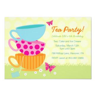 """Invitaciones de la fiesta del té del jardín de la invitación 5"""" x 7"""""""
