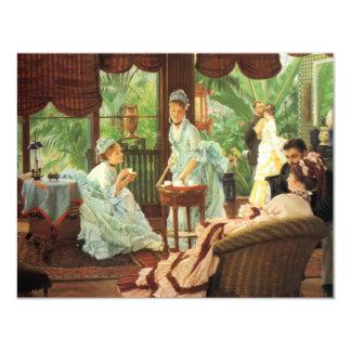 Invitaciones de la fiesta del té del Victorian de Invitacion Personalizada