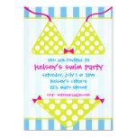 Invitaciones de la fiesta en la piscina de la anuncios personalizados
