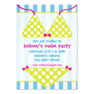 Invitaciones de la fiesta en la piscina de la invitación 12,7 x 17,8 cm