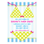 Invitaciones de la fiesta en la piscina de la nada