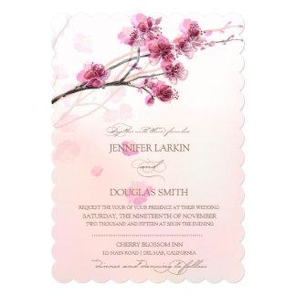 """Invitaciones de la flor de cerezo/del boda de invitación 5"""" x 7"""""""
