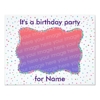 """Invitaciones de la foto de la fiesta de cumpleaños invitación 4.25"""" x 5.5"""""""