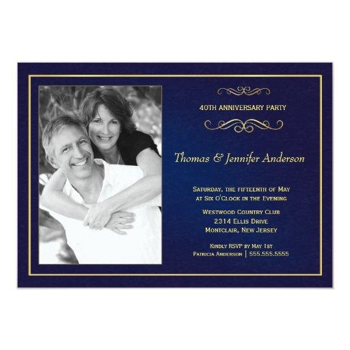 """Invitaciones de la foto del aniversario de boda - invitación 5"""" x 7"""""""