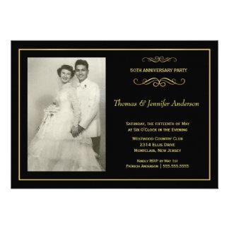Invitaciones de la foto del aniversario de boda -