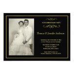 Invitaciones de la foto del aniversario de boda - anuncio personalizado
