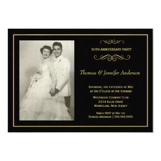 Invitaciones de la foto del aniversario de boda - invitación 12,7 x 17,8 cm