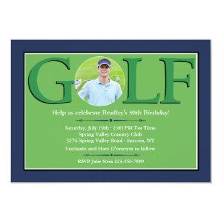 """Invitaciones de la foto del golf invitación 5"""" x 7"""""""