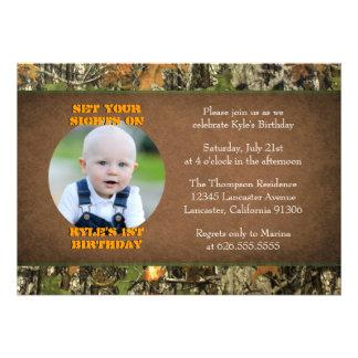 Invitaciones de la foto del muchacho del cumpleaño
