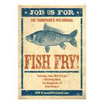 Invitaciones de la fritada de pescado anuncios personalizados