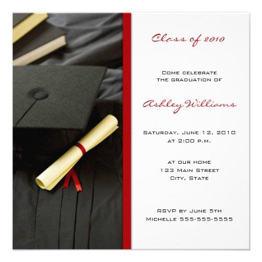 Invitaciones de la graduación comunicado personalizado