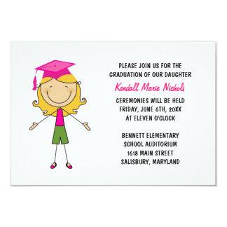 Invitaciones de la graduación de la escuela invitación 8,9 x 12,7 cm