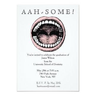 """invitaciones de la graduación de la escuela dental invitación 5"""" x 7"""""""