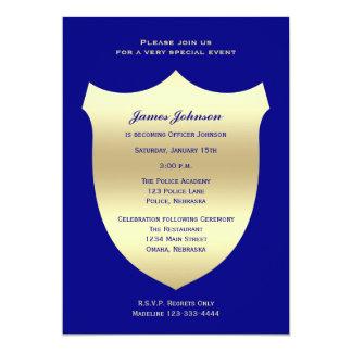 Invitaciones de la graduación de la policía, invitación 12,7 x 17,8 cm