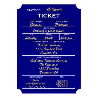 Invitaciones de la graduación de la policía del comunicados personalizados