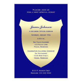 Invitaciones de la graduación de la policía insig