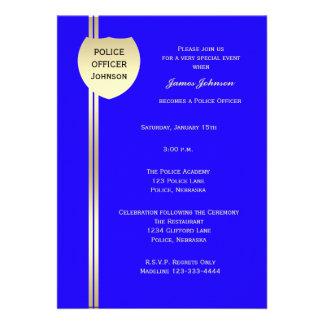 Invitaciones de la graduación de la policía - la p