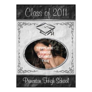 """Invitaciones de la graduación del marco de la foto invitación 5"""" x 7"""""""