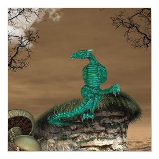 """Invitaciones de la guarida de los dragones invitación 5.25"""" x 5.25"""""""
