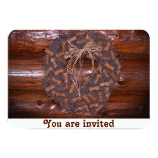 """Invitaciones de la guirnalda del corcho de la invitación 3.5"""" x 5"""""""
