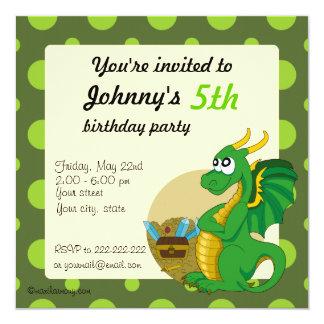 """Invitaciones de la impresión del cumpleaños del invitación 5.25"""" x 5.25"""""""