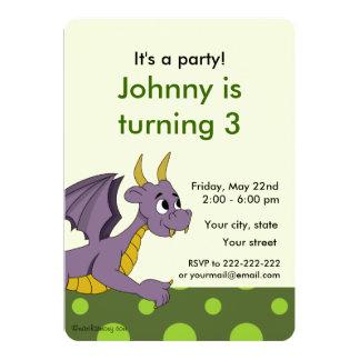 """Invitaciones de la impresión del cumpleaños del invitación 5"""" x 7"""""""