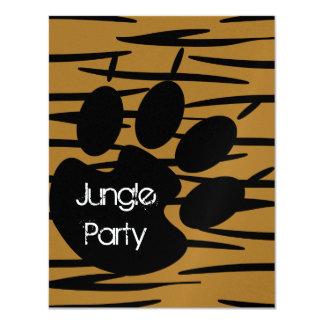 Invitaciones de la impresión del tigre invitación 10,8 x 13,9 cm