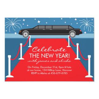 Invitaciones de la limusina y de la alfombra roja invitacion personal