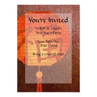 Invitaciones de la linterna de papel invitación 12,7 x 17,8 cm